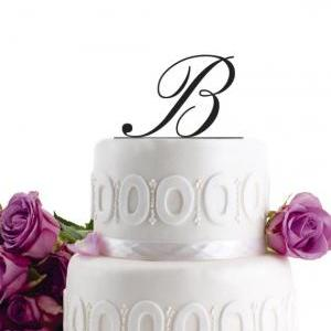 Wedding Cake Topper Initial Wedding..